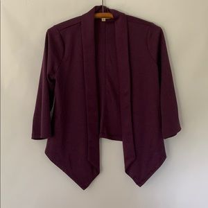 🌹Living Doll Plum Purple Soft 3/4 Sleeve Blazer